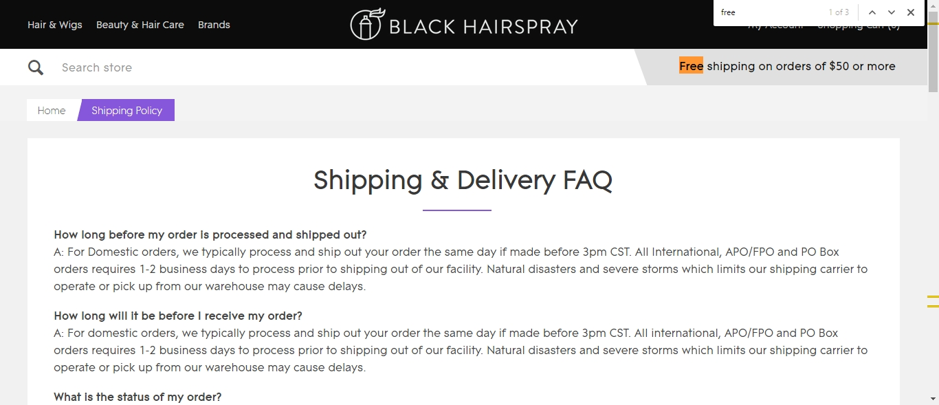 Black hairspray coupon code