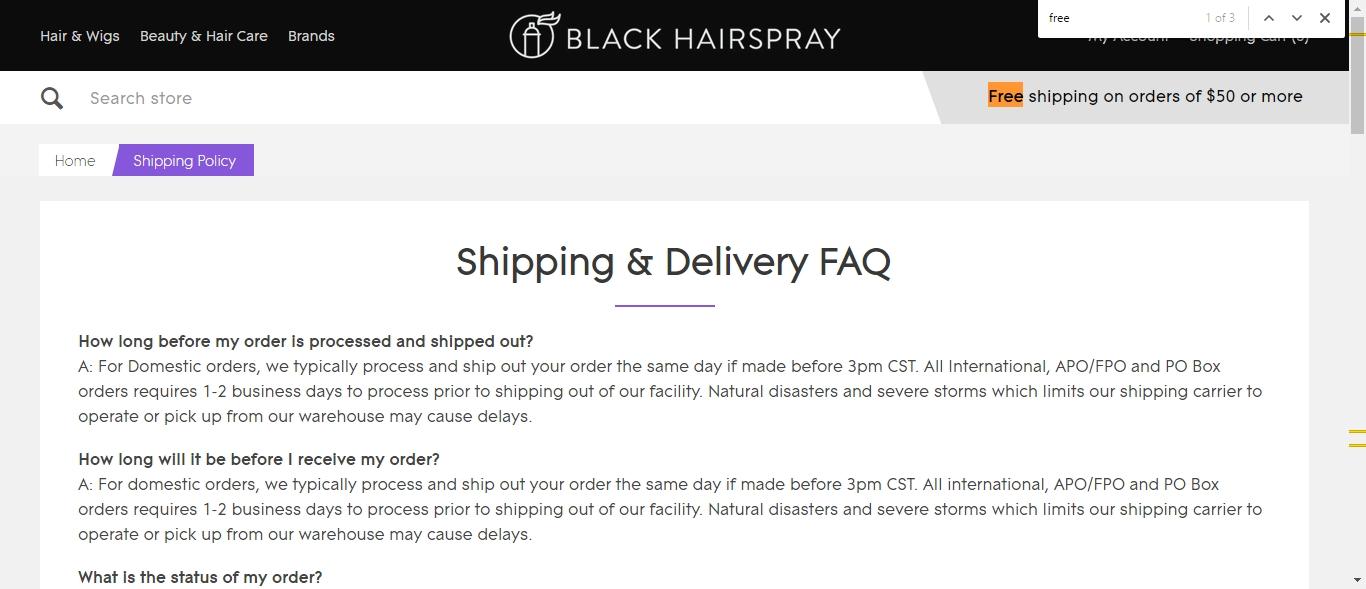 Blackhairspray coupons