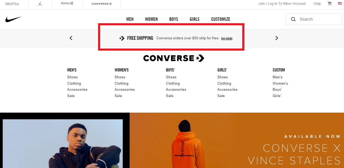 Coupons converse 2018