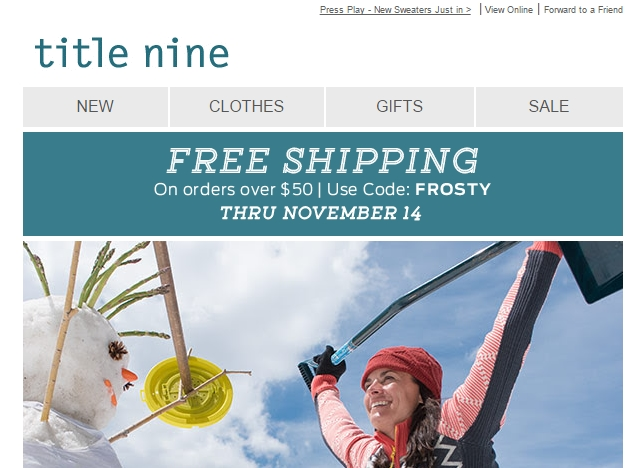 Title nine coupon code