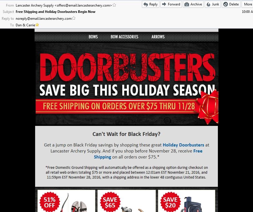 Lancaster archery discount coupons