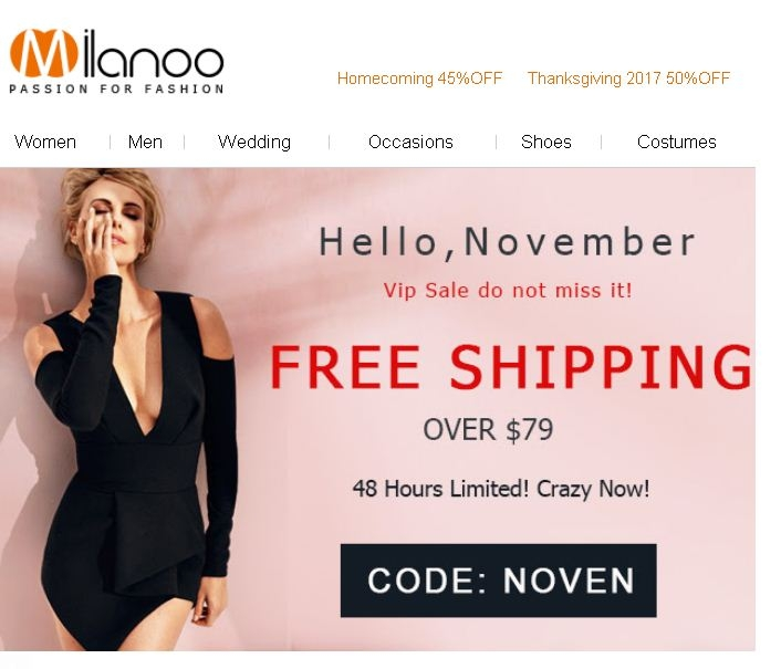 Milanoo coupon code