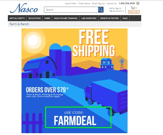 Grab yourself a bargain with this Nasco coupon code for October Nasco's top offer: Discount up to 20% on Education Items + shipping the goods to you for free on $99 or more. Codes .