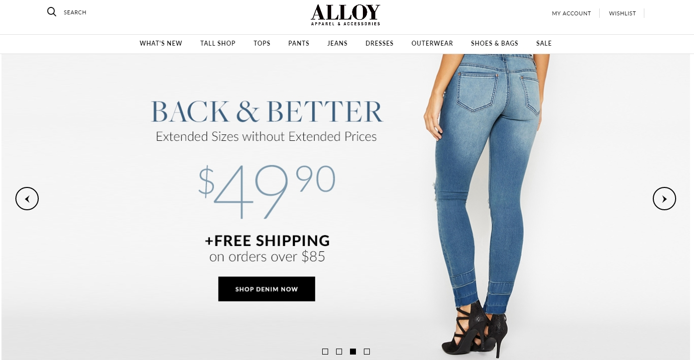 Alloy clothing coupons