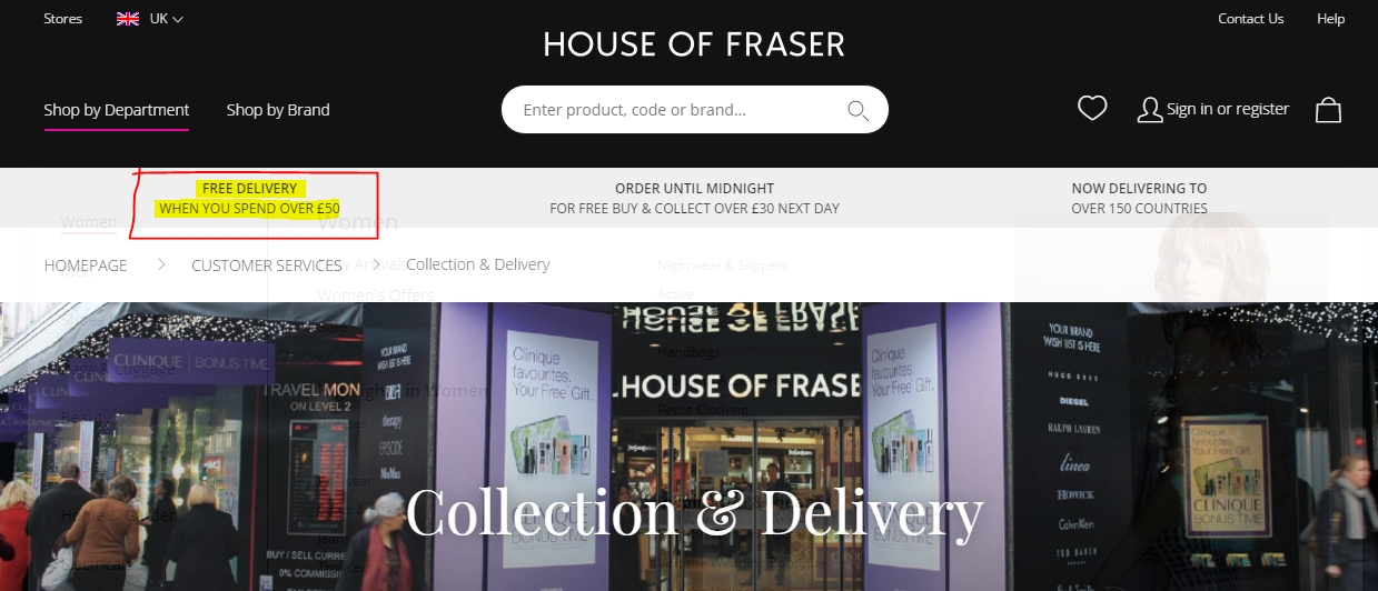 House of fraser coupons 2018