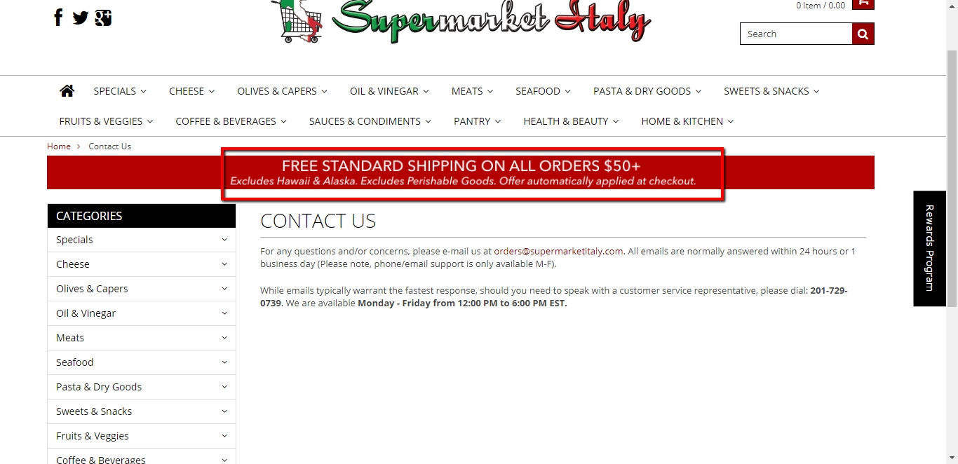 On average, Supermarket Italy offers 0 codes or coupons per month. Check this page often, or follow Supermarket Italy (hit the follow button up top) to keep updated on their latest discount codes. Check for Supermarket Italy's promo code exclusions. Supermarket Italy promo codes sometimes have exceptions on certain categories or brands/5(8).