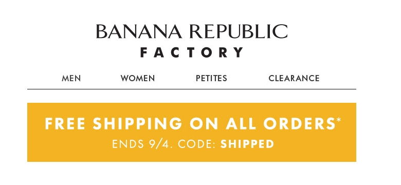 Banana republic coupon free shipping