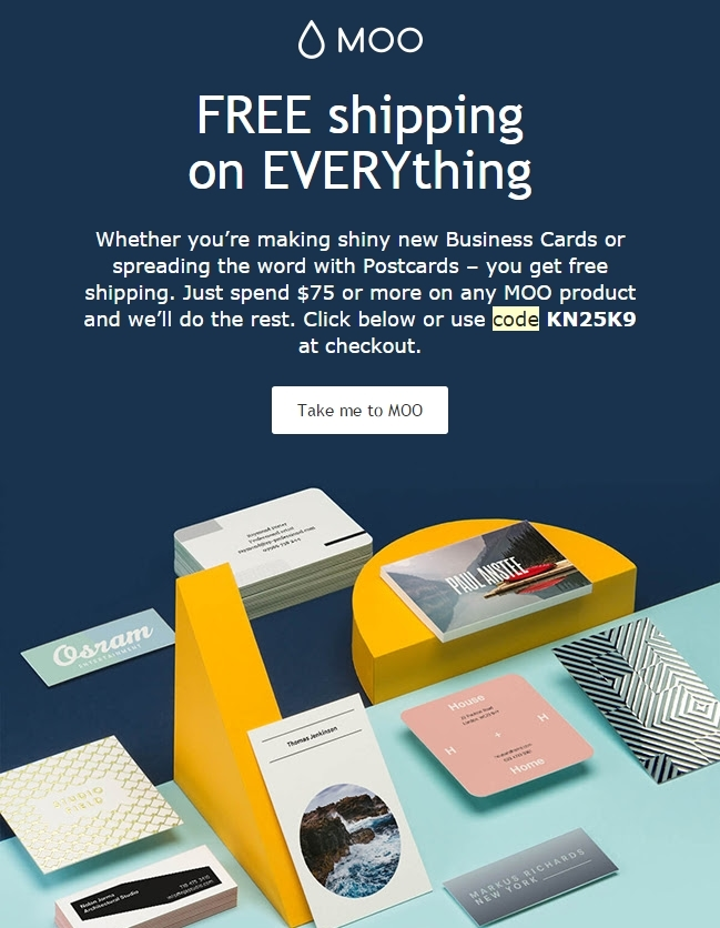 Moo free shipping coupon august 2018 wholesale moo coupons top deal 50 off goodshop monster jam coupons promo codes october 2017 autos postmoo business cards free shipping reheart Gallery