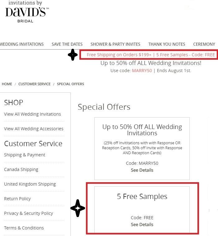 Davids bridal invitation coupon code Wellness dry cat food coupons