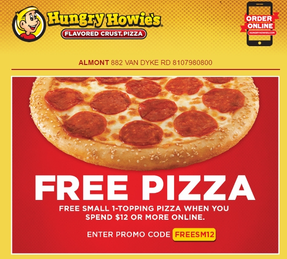 Today's top Hungry Howie's coupon: Free 3 Cheeser Howie Bread For Registered Users. Get 50 Hungry Howie's coupons and promo codes for on RetailMeNot.