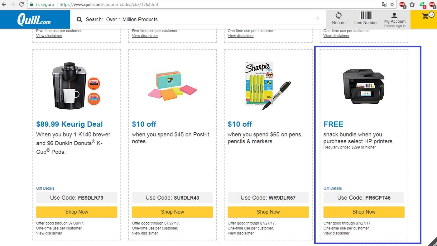 Quill com coupons