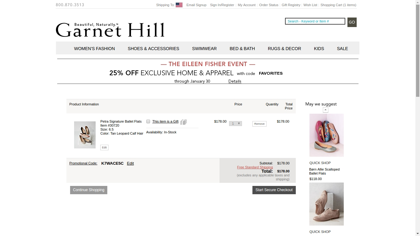 Garnet hill coupon code