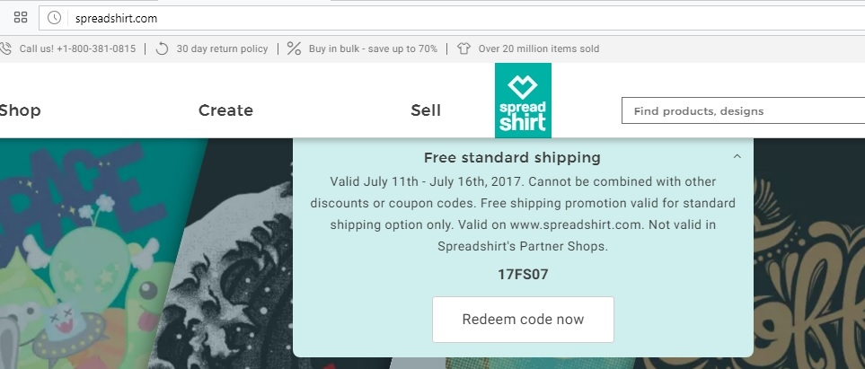 Spreadshirt coupons discounts