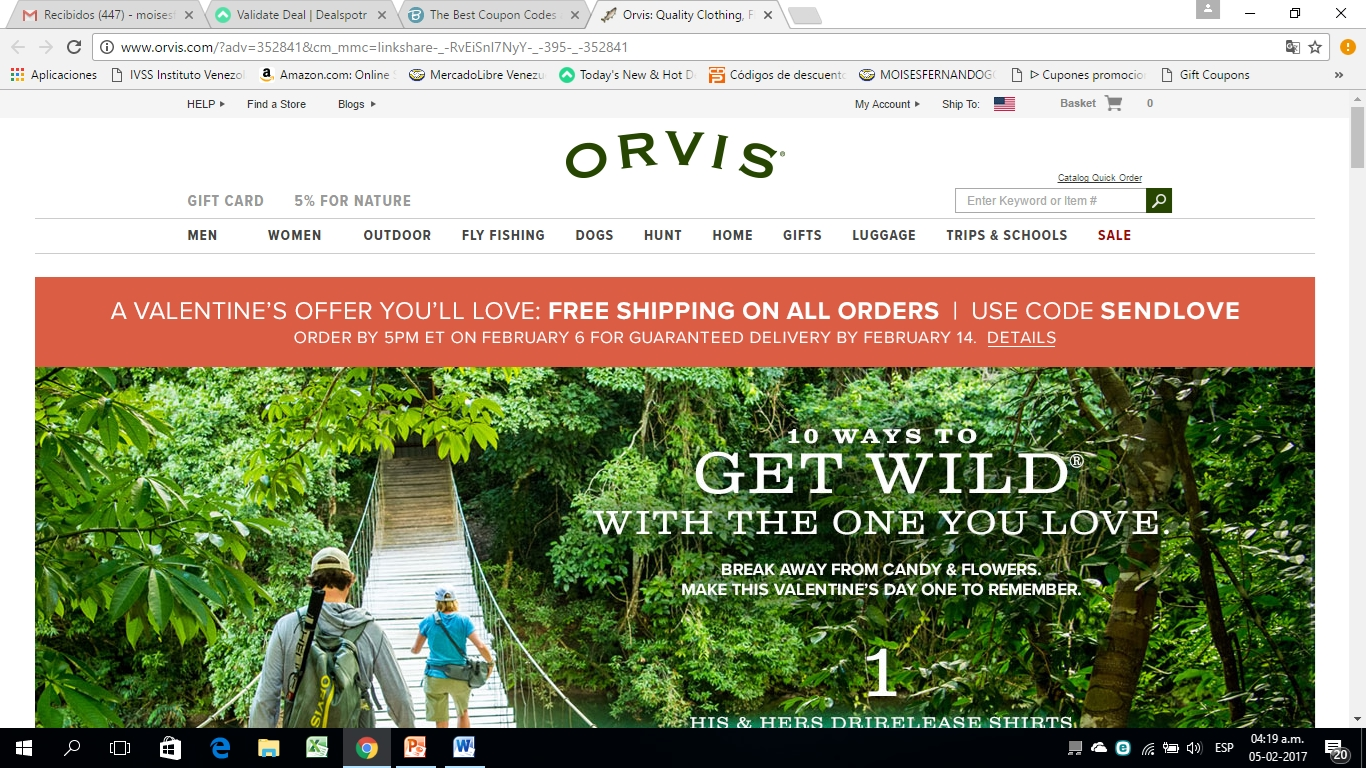 Orvis coupons free shipping