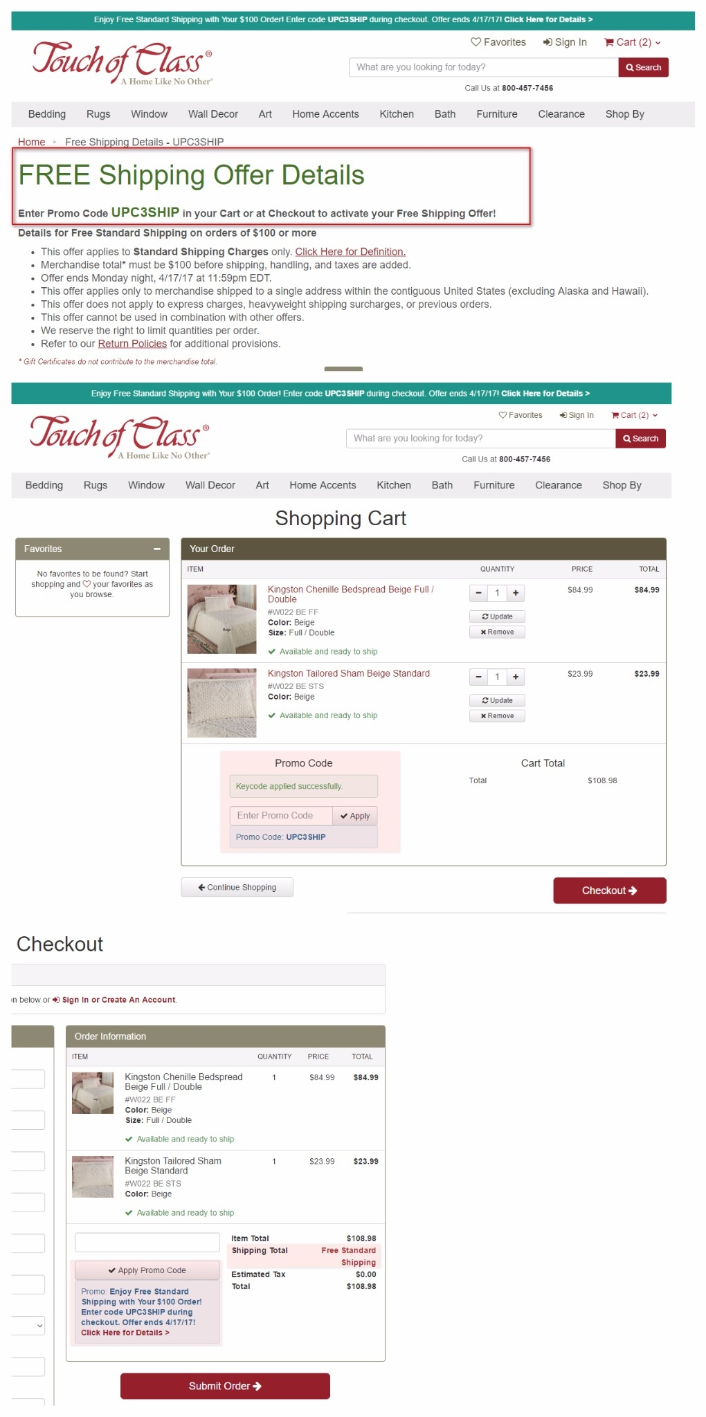 Touch of class coupon code