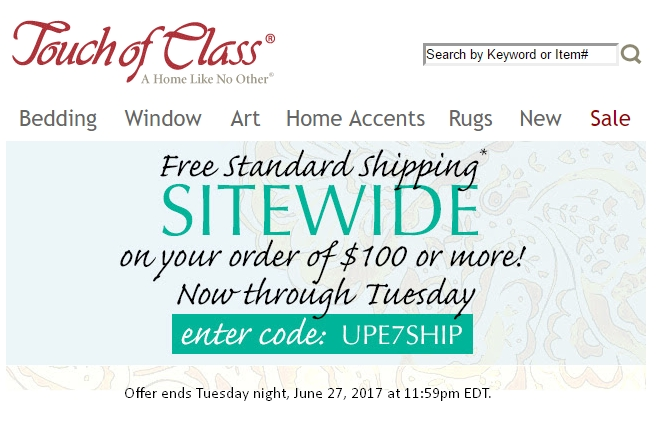 Jun 07,  · 3 active Touch of Class Deals & Coupons Visitors save an average of $; Touch of Class is a leading supplier of furniture and home décor accessories in the United States. With over various products to choose from, Touch of Class can take care of every need that your home has.