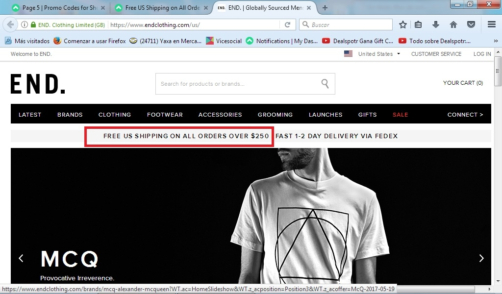 End clothing coupon code