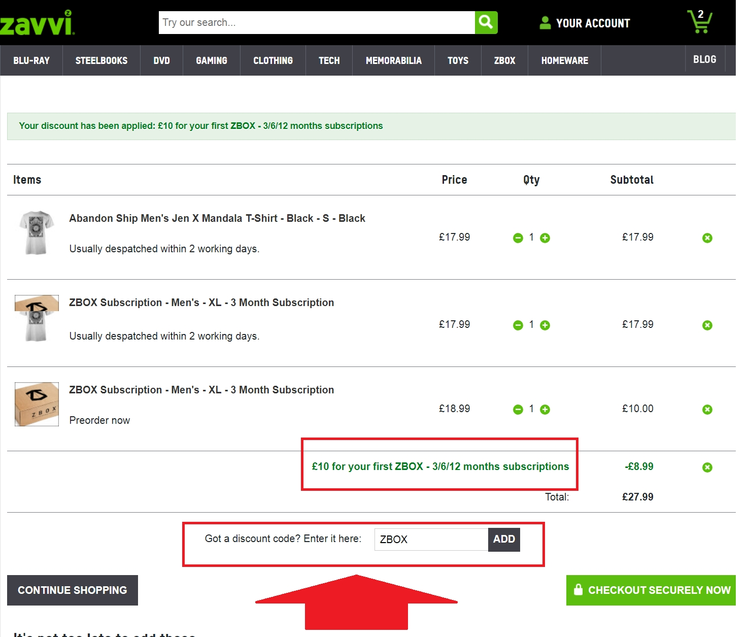 zavvi coupon