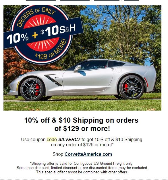Ecklers corvette discount coupons