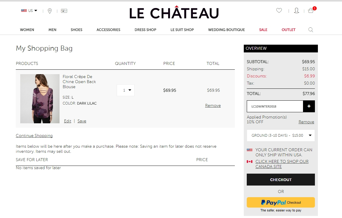 Chateau coupons