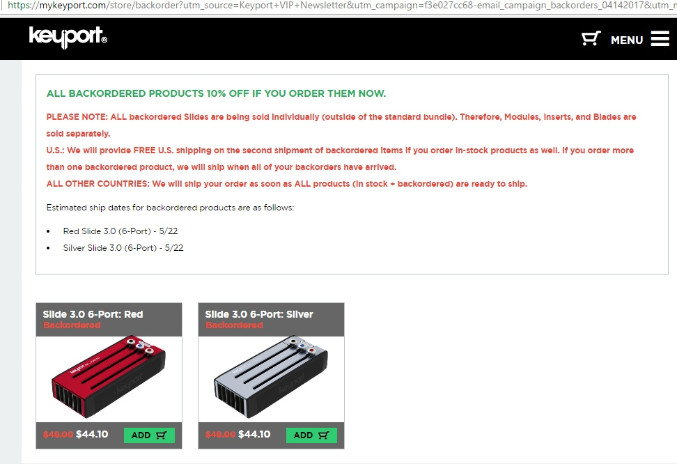 Keyport promo codes sometimes have exceptions on certain categories or brands. Look for the blue