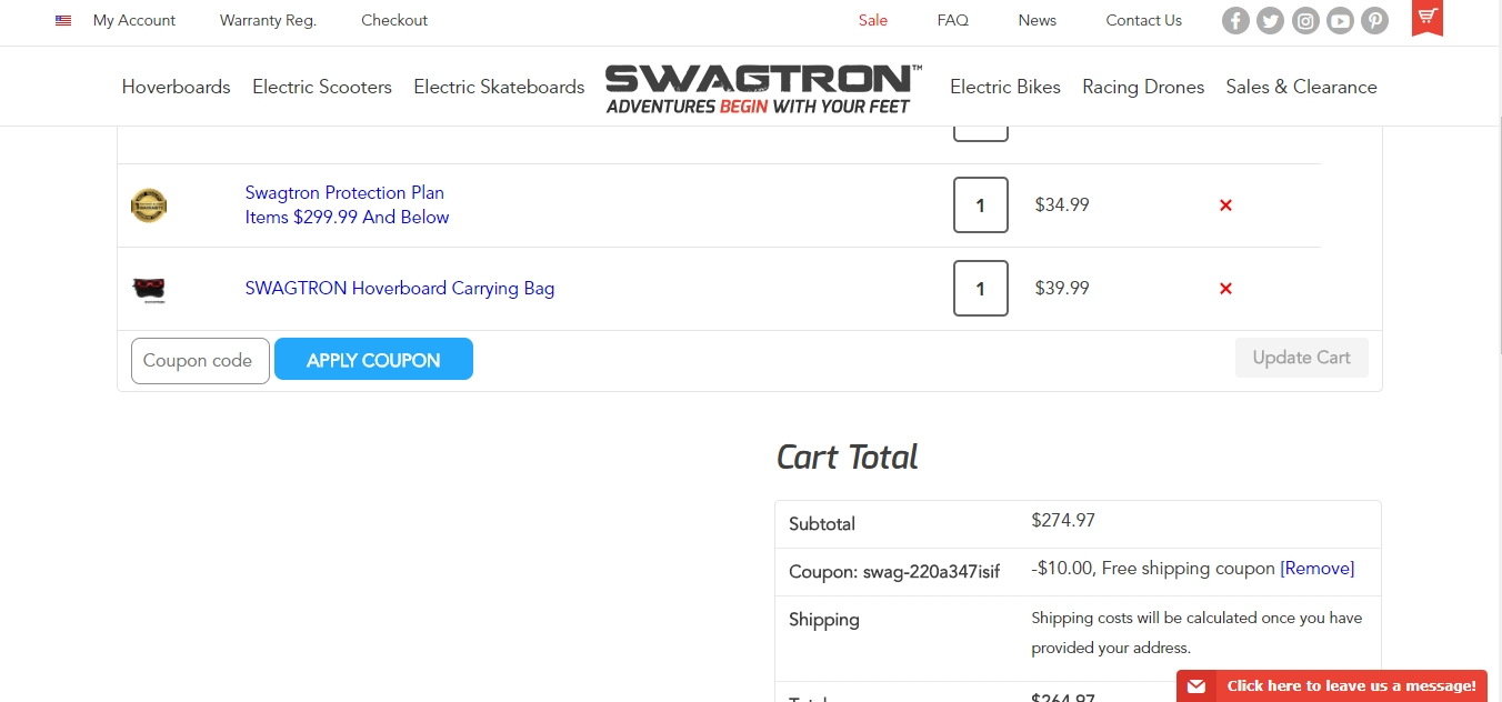 Swagtron coupon code 2018