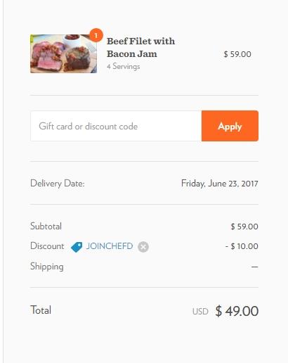 Chef michael coupon $10