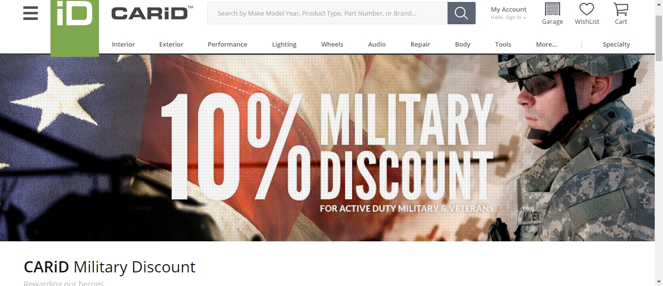 Military discount coupons