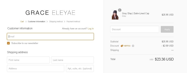 Grace eleyae coupon code