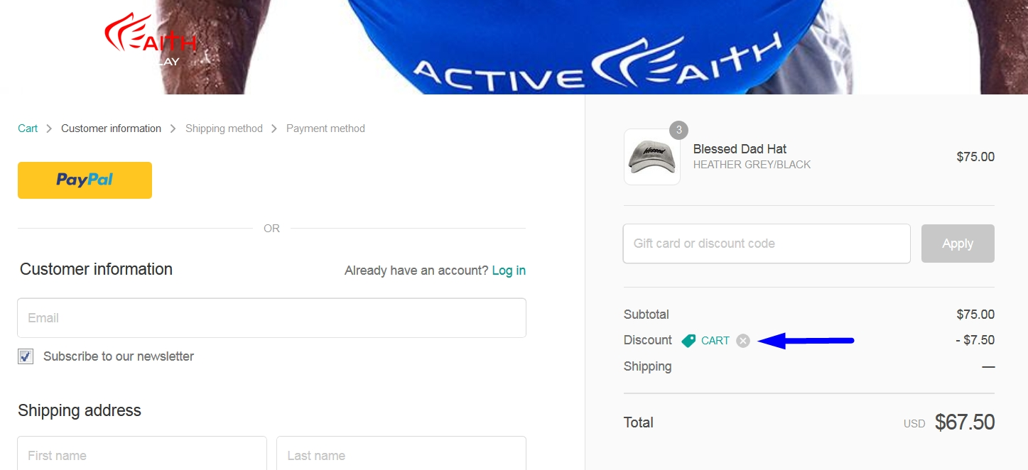 Active faith coupon code
