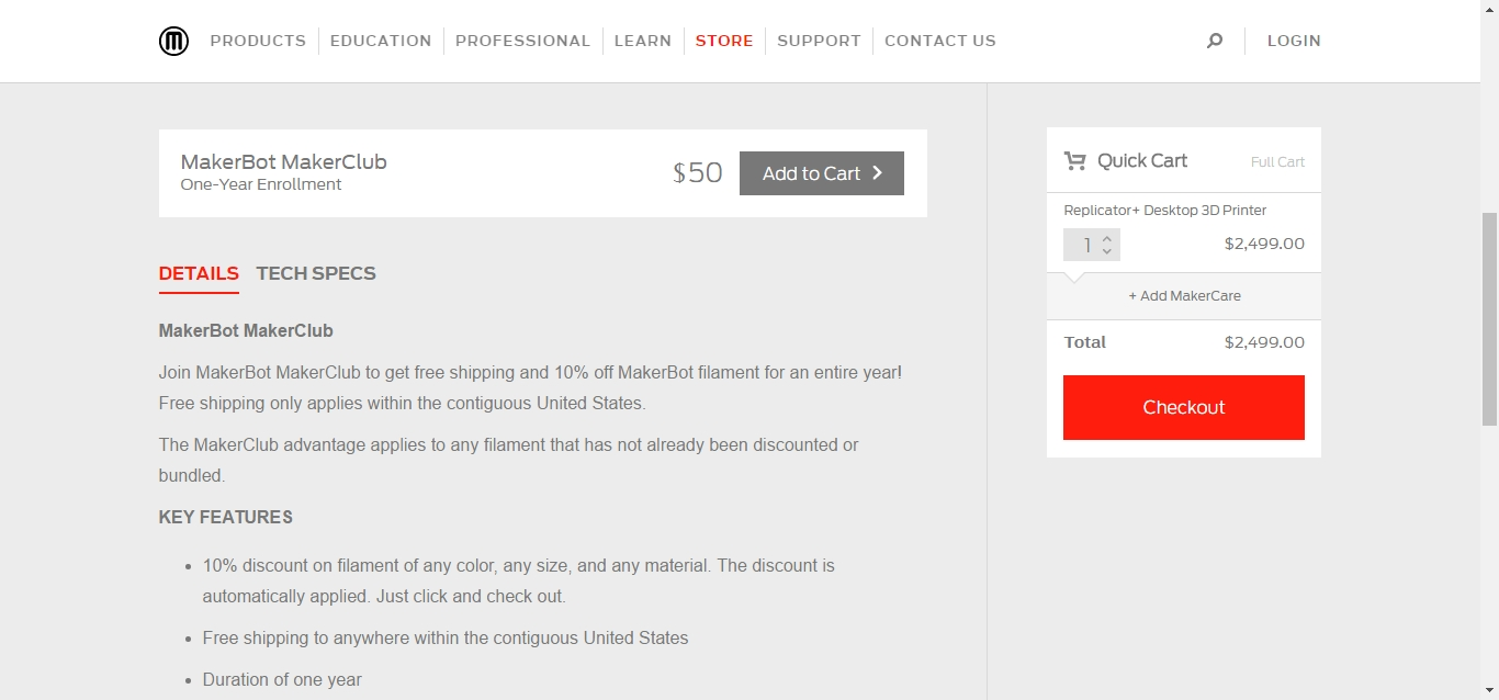 MakerBot promo codes sometimes have exceptions on certain categories or brands. Look for the blue