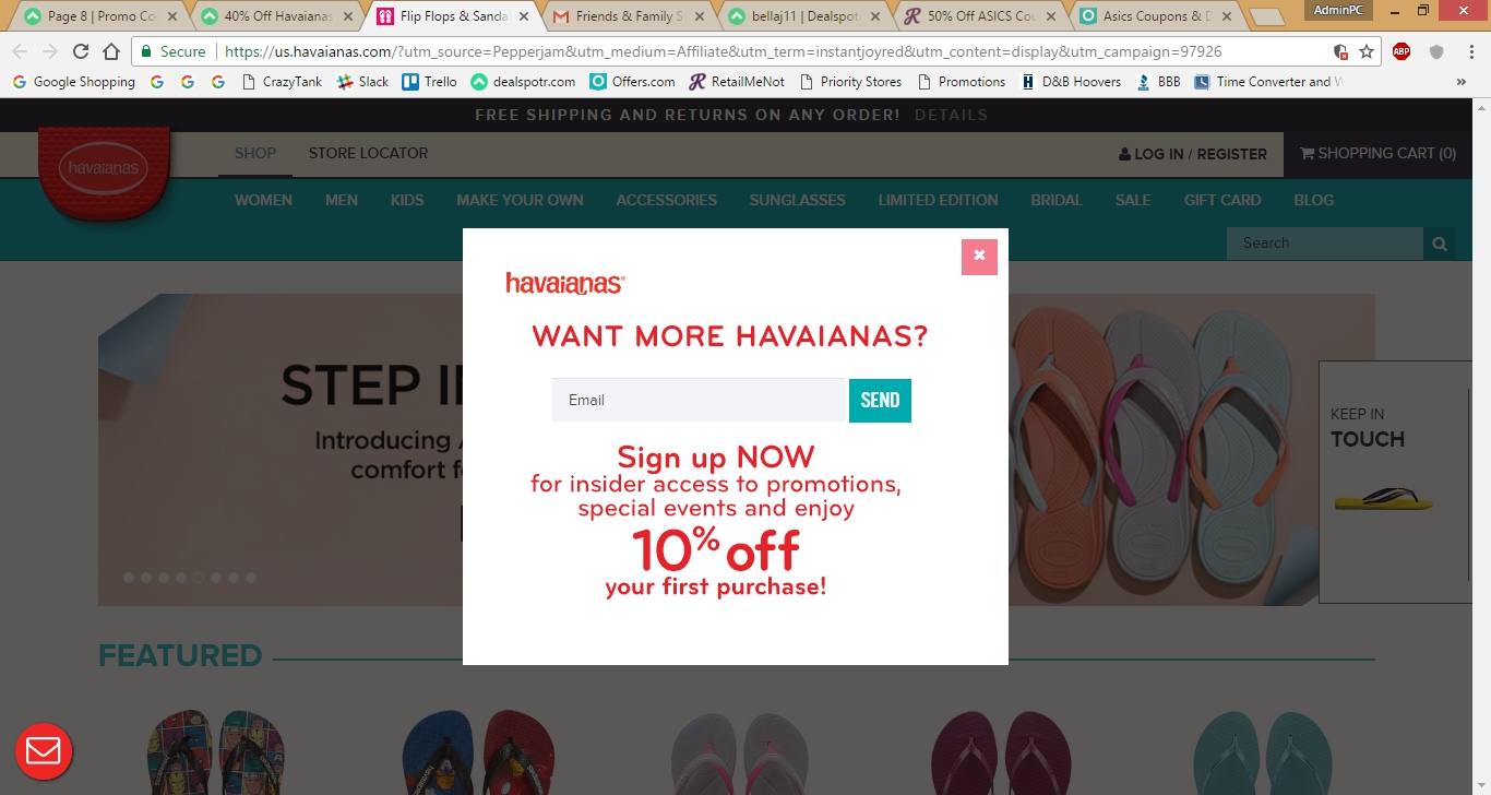 Havaianas coupon code