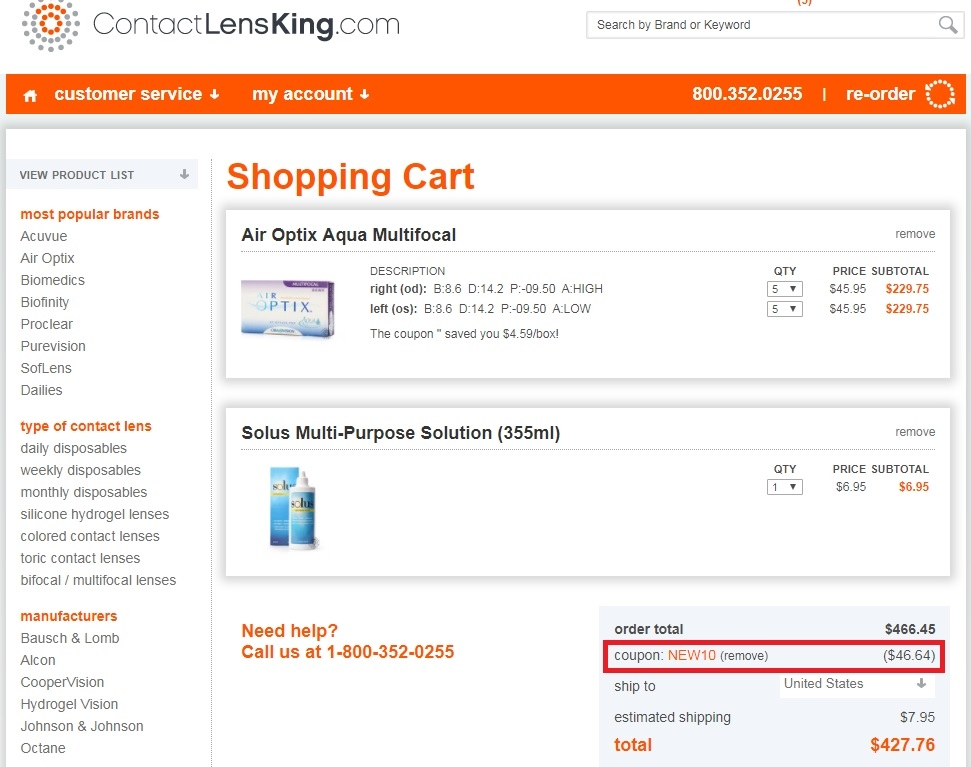 Contact lens king coupon code