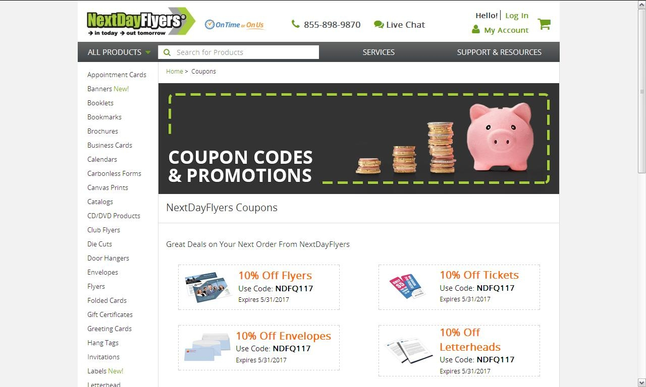 Next day flyers coupon code