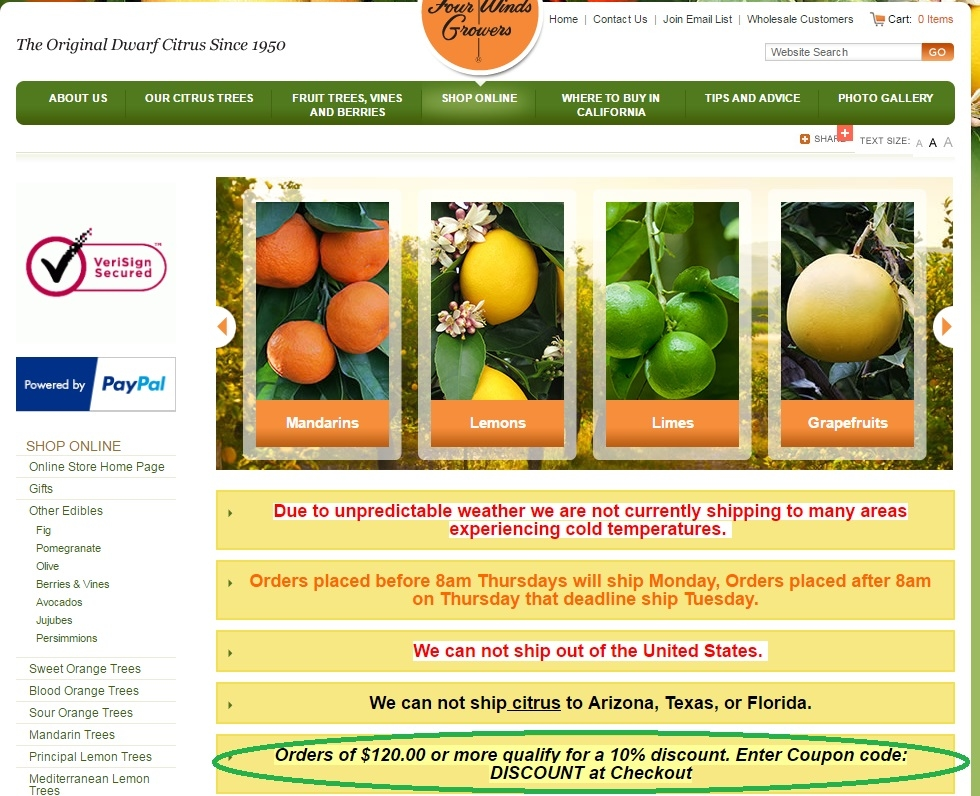Four winds growers discount coupons