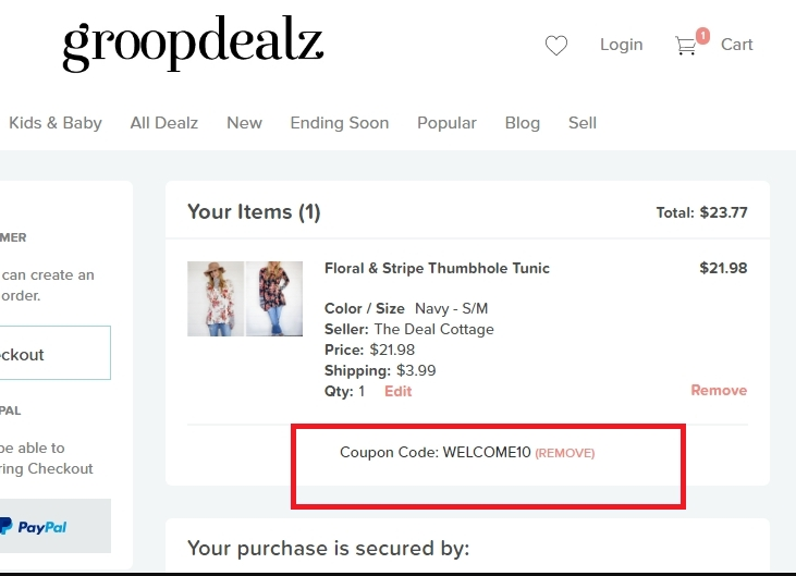Groopdealz coupon code