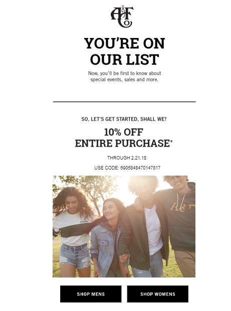 Abercrombie and fitch coupons may 2019
