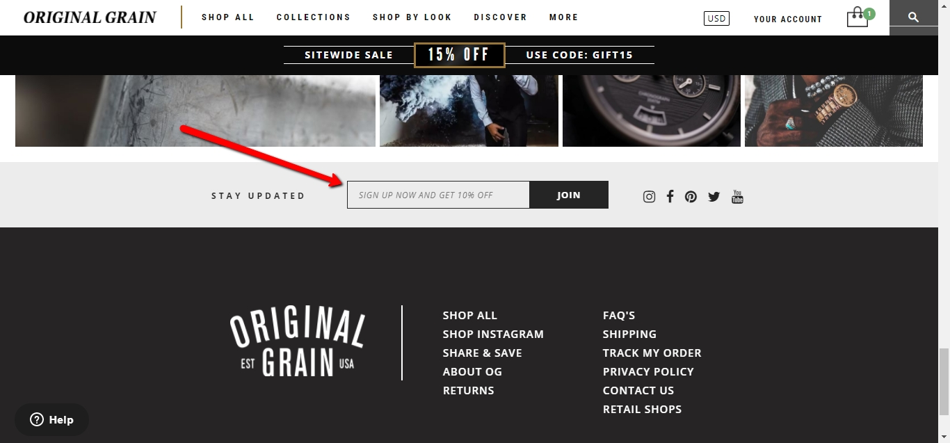 Original grain coupon code