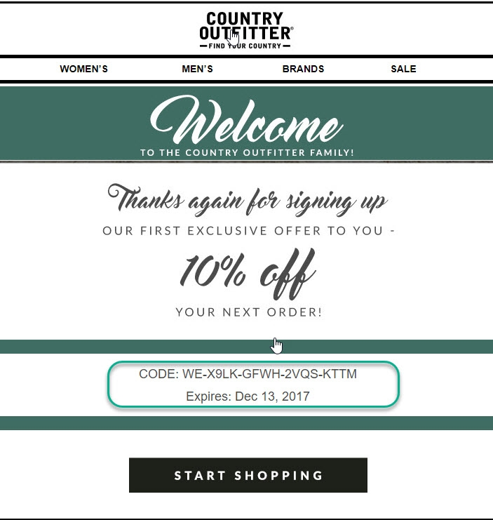 Country Outfitter Coupon Codes, Promos & Sales