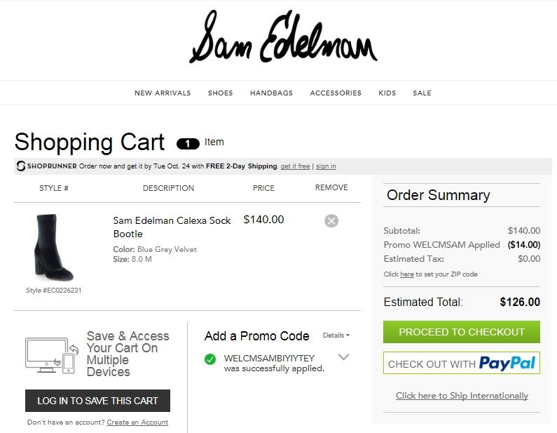 Sam edelman coupon code