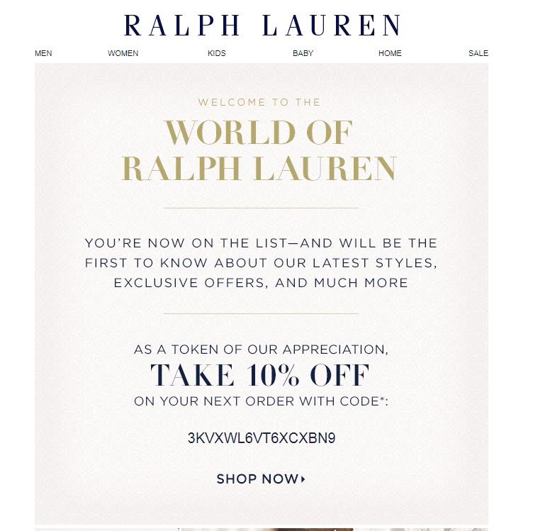 Ralph lauren online coupon may 2018
