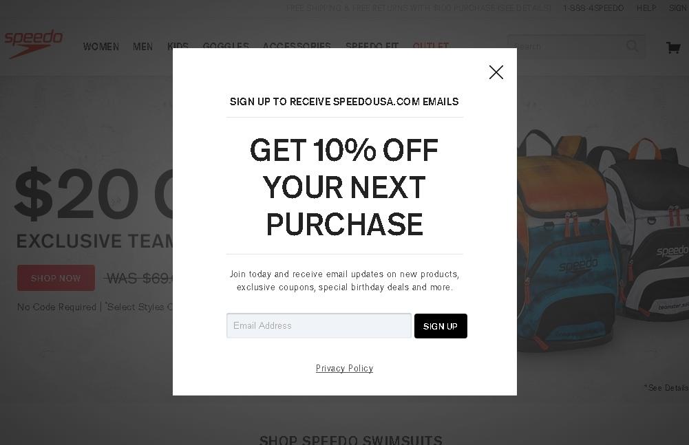 Speedo coupon code