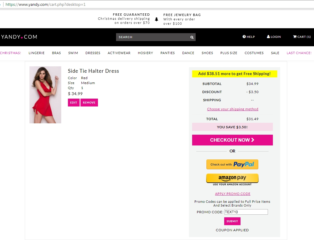Yandy coupon code