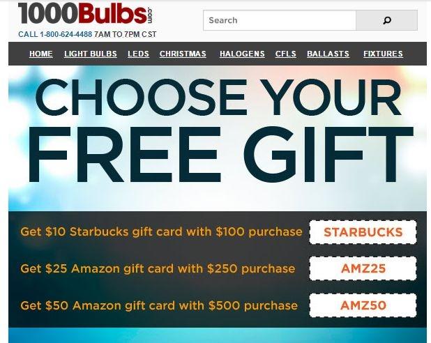 1000bulbs coupon code free shipping