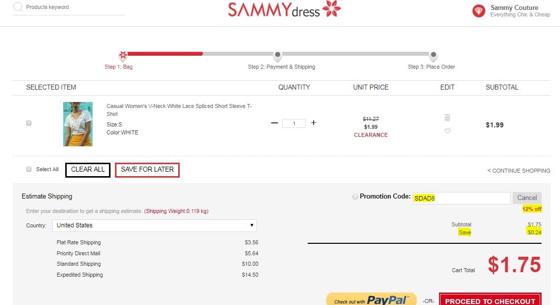 Sammydress coupons codes