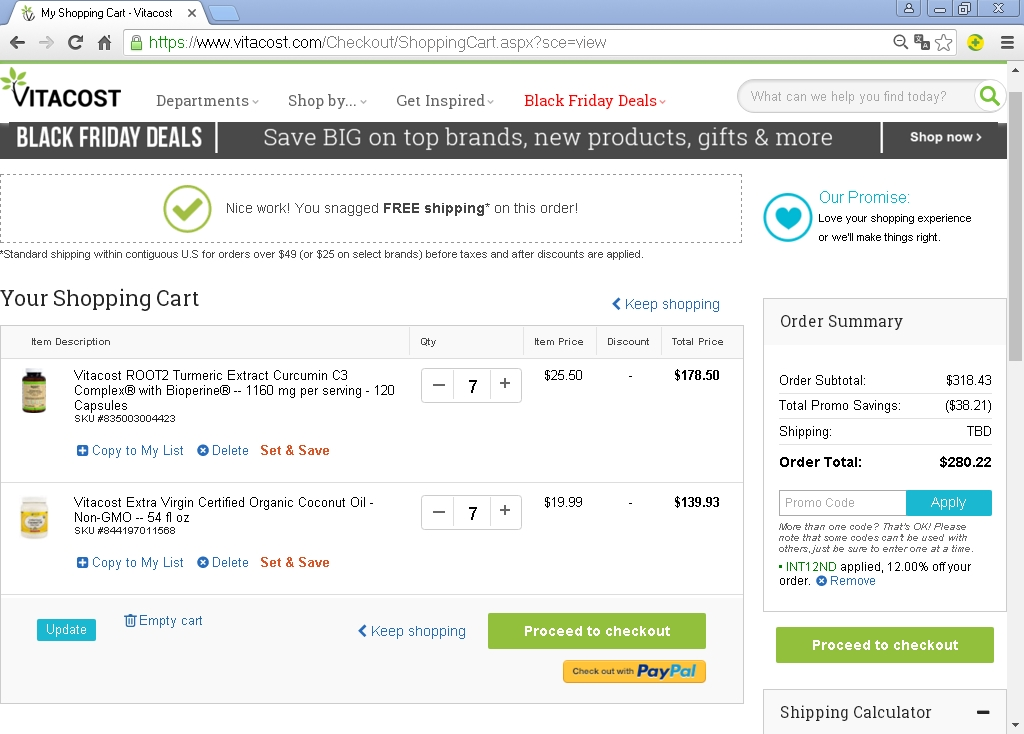 Vitacost coupon code 15 off