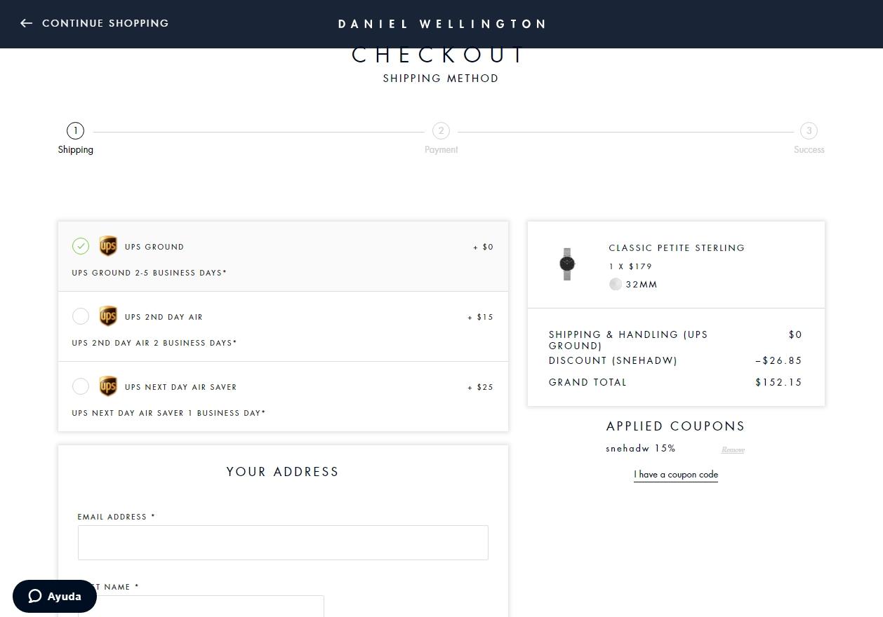 Daniel wellington coupon code