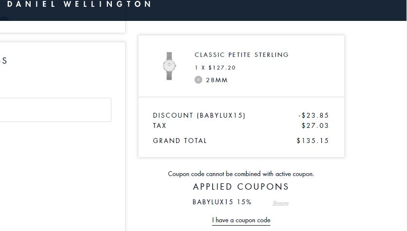 Daniel wellington coupon code 2018