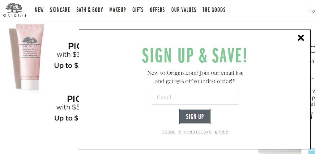 Origins promotional code - Att wireless store