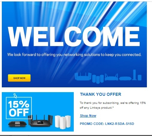 Linksys coupons promotional codes